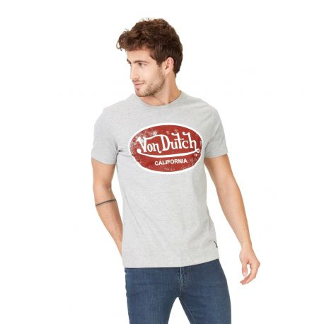 T-shirt homme Von Dutch Aaron'19 Gris Clair Chiné