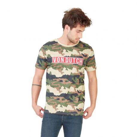 T-shirt homme Von Dutch Bells Camouflage