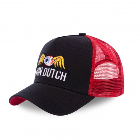 Casquette baseball Von Dutch Colors Noir et Rouge