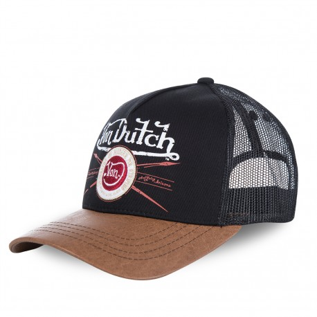 Casquette baseball Von Dutch Pin Noir et Marron
