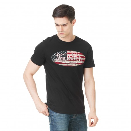 Von Dutch men's black printed MC t-shirt