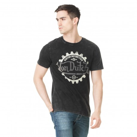 Von Dutch men's black printed Keith t-shirt