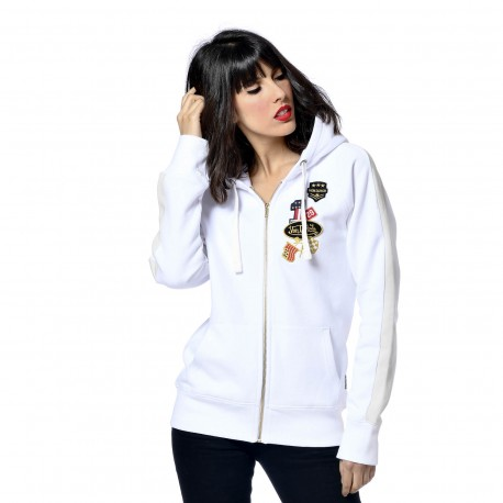 Sweat Femme Von Dutch Haley Badges Blanc