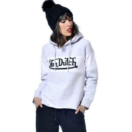 Women's Sweatshirt Von Dutch Naomi Logo White