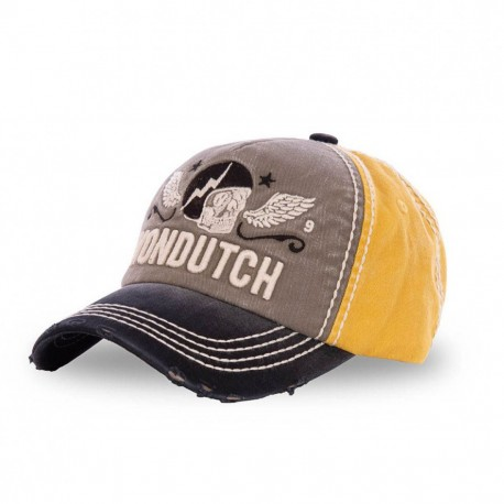 Yellow and Grey Von Dutch Xavier baseball cap