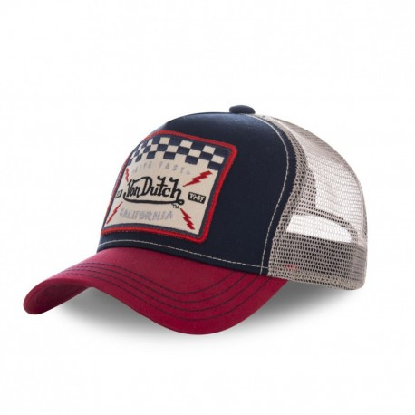 Blue and Red Von Dutch Square baseball cap