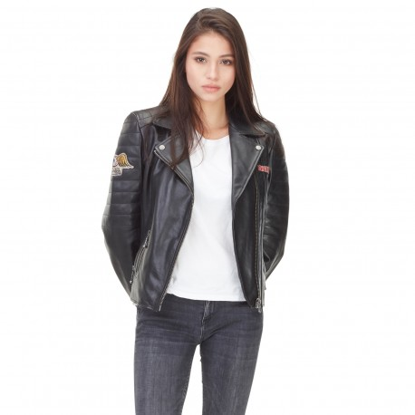 Von Dutch women's black leather Arizona jacket