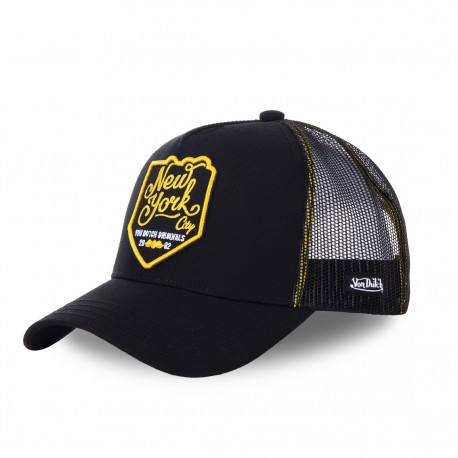 Casquette baseball filet Von Dutch New York noir