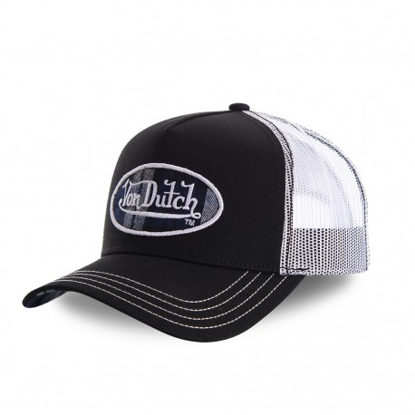Black and white Scotland baseball cap with mesh