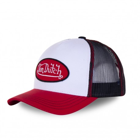 Men's Von Dutch white and red Col baseball cap