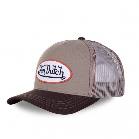 Men's Von Dutch beige and brown Col baseball cap