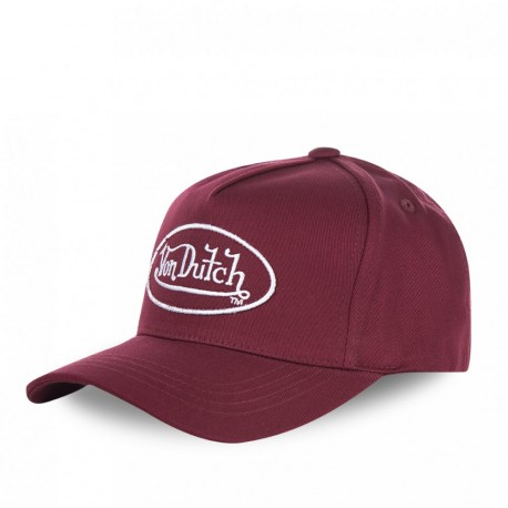 Casquette baseball homme Von Dutch Tom Bordeaux