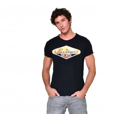 Men's Von Dutch Las Vegas black T-shirt