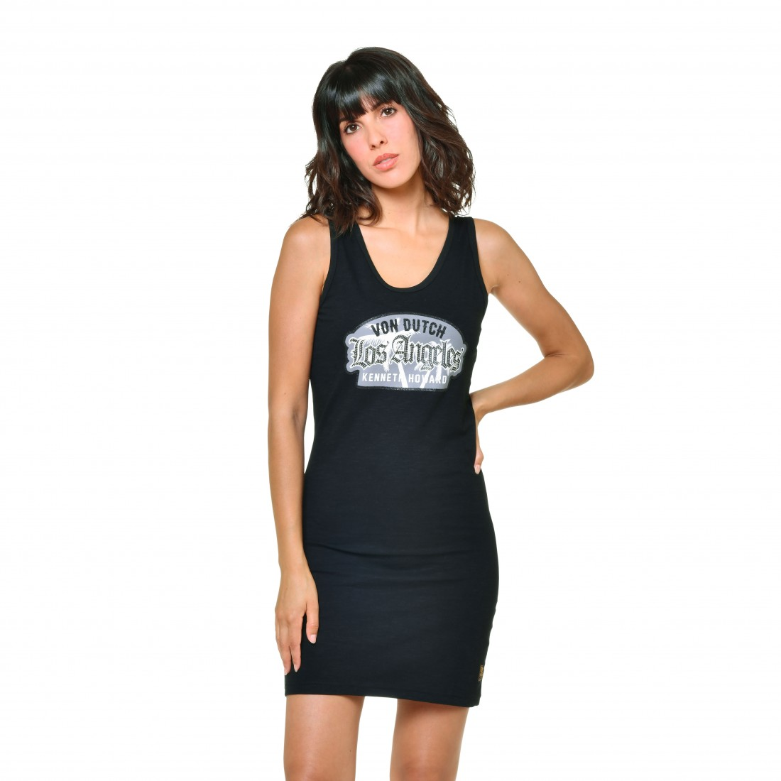 Women's Von Dutch Ysis Black Short Dress