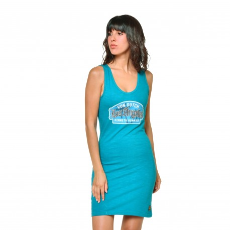 Women's Von Dutch Ysis blue short dress