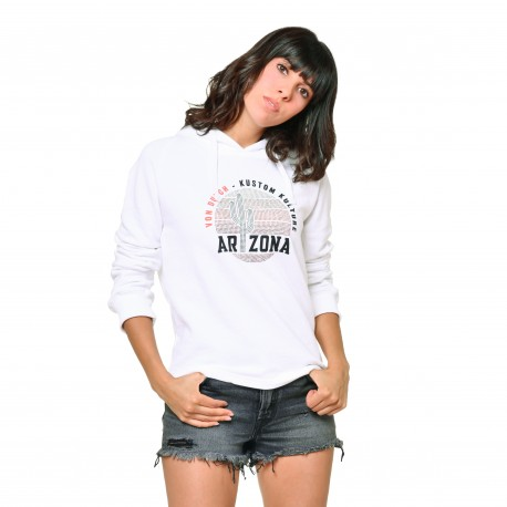 Women's Von Dutch Jane white sweatshirt