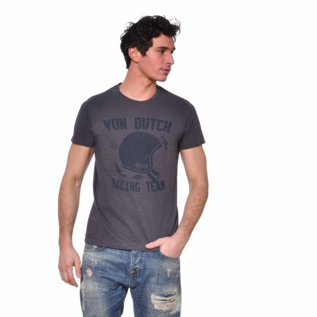 T-shirt Von Dutch homme Helm Von Dutch vue de face gris