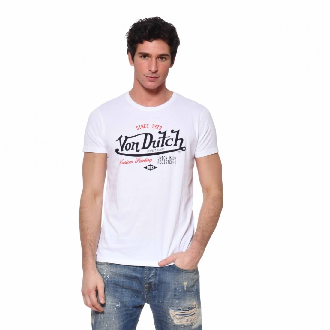 Men's Von Dutch Paint White T-Shirt