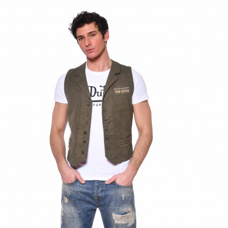Men's Von Dutch Howard kakhi cotton vest