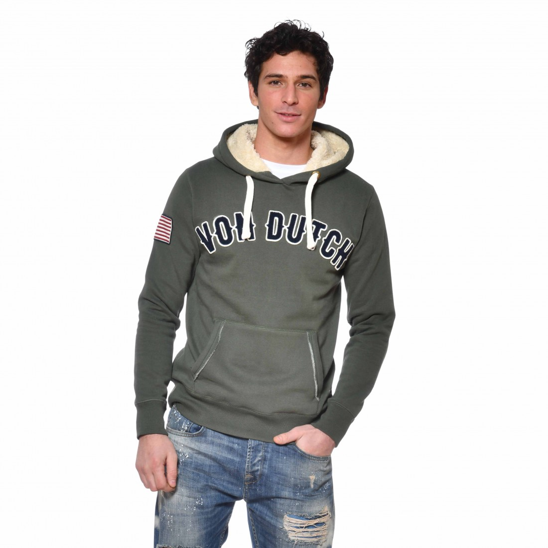 Men's Von Dutch Must Kakhi Sweatshirt