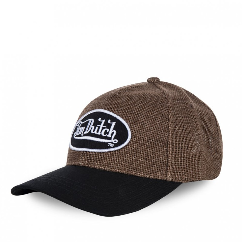 Casquette baseball homme Von Dutch Gaetan Marron