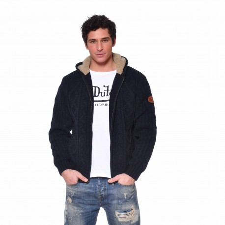Men's Von Dutch Joss black zipped sweatshirt with hood