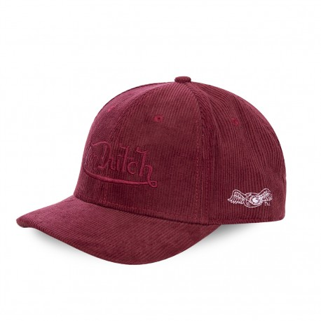 Casquette baseball Velours Peter Von Dutch rouge