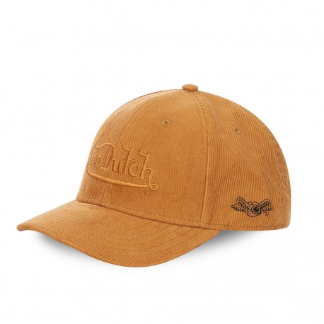 Von Dutch Peter yellow velvet baseball cap