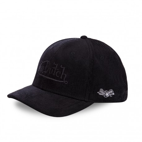 Von Dutch Peter black velvet baseball cap