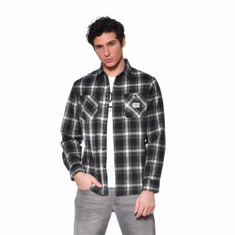 Men's Von Dutch Jack black plaid shirt