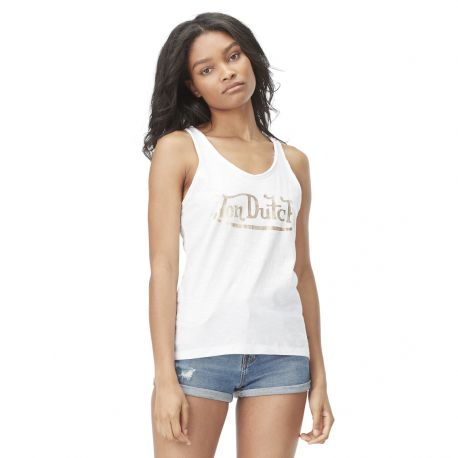 Women's Von Dutch Kim white tank top