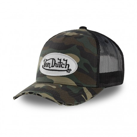 Camouflage baseball Von Dutch cap with mesh