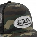 Camouflage baseball Von Dutch cap with mesh zoom on the patch