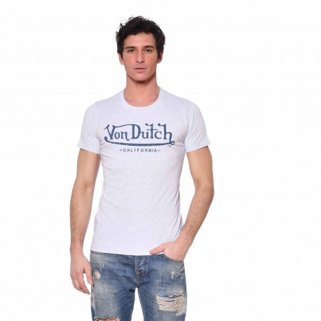 Men's Von Dutch Life white T-shirt front