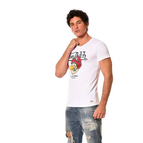 T-shirt homme coupe ajustée col rond Von Dutch Pick