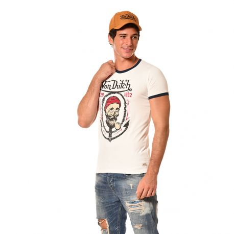 T-shirt homme coupe ajustée col rond Von Dutch Sailor