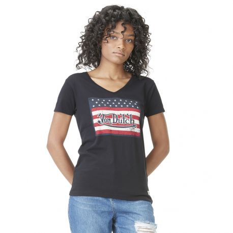 Women's Von Dutch USA black T-shirt