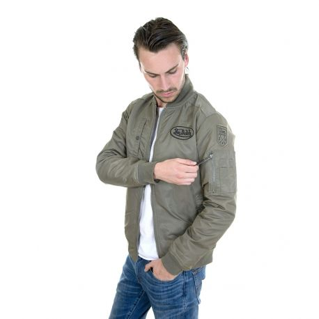 Khaki Green Von Dutch men's Newborn Bomber Jacket