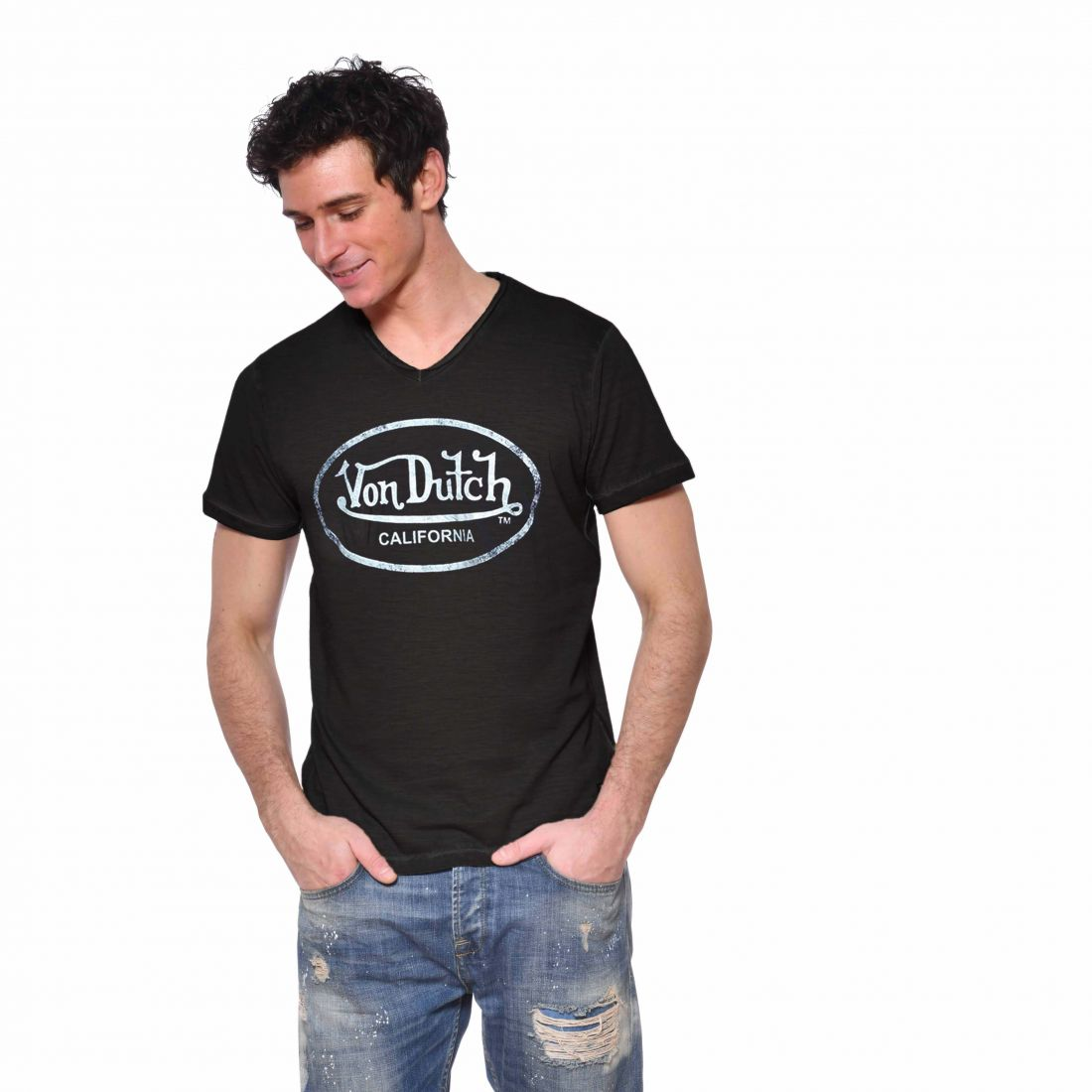 T-shirt Slim Fit Col V homme Ron