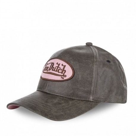 Casquette baseball femme Von Dutch Vicky Marron