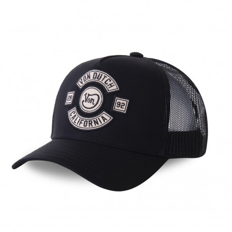 Casquette baseball filet Von Dutch Bik Black Noir