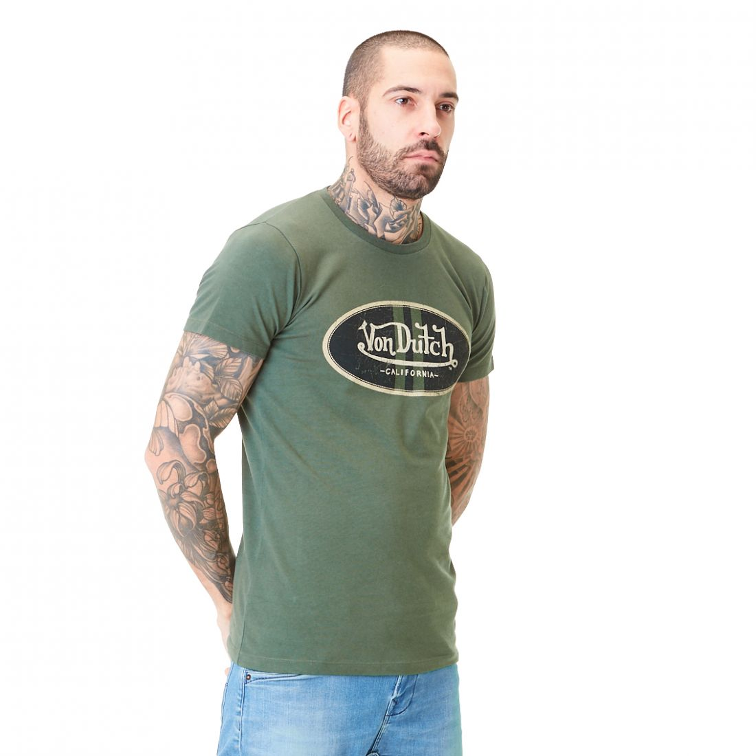 T-shirt homme Col rond Slim Fit Log