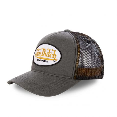 Casquette baseball Von Dutch Originals filet Gris
