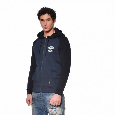 Sweat homme zippé à capuche en molleton Skies