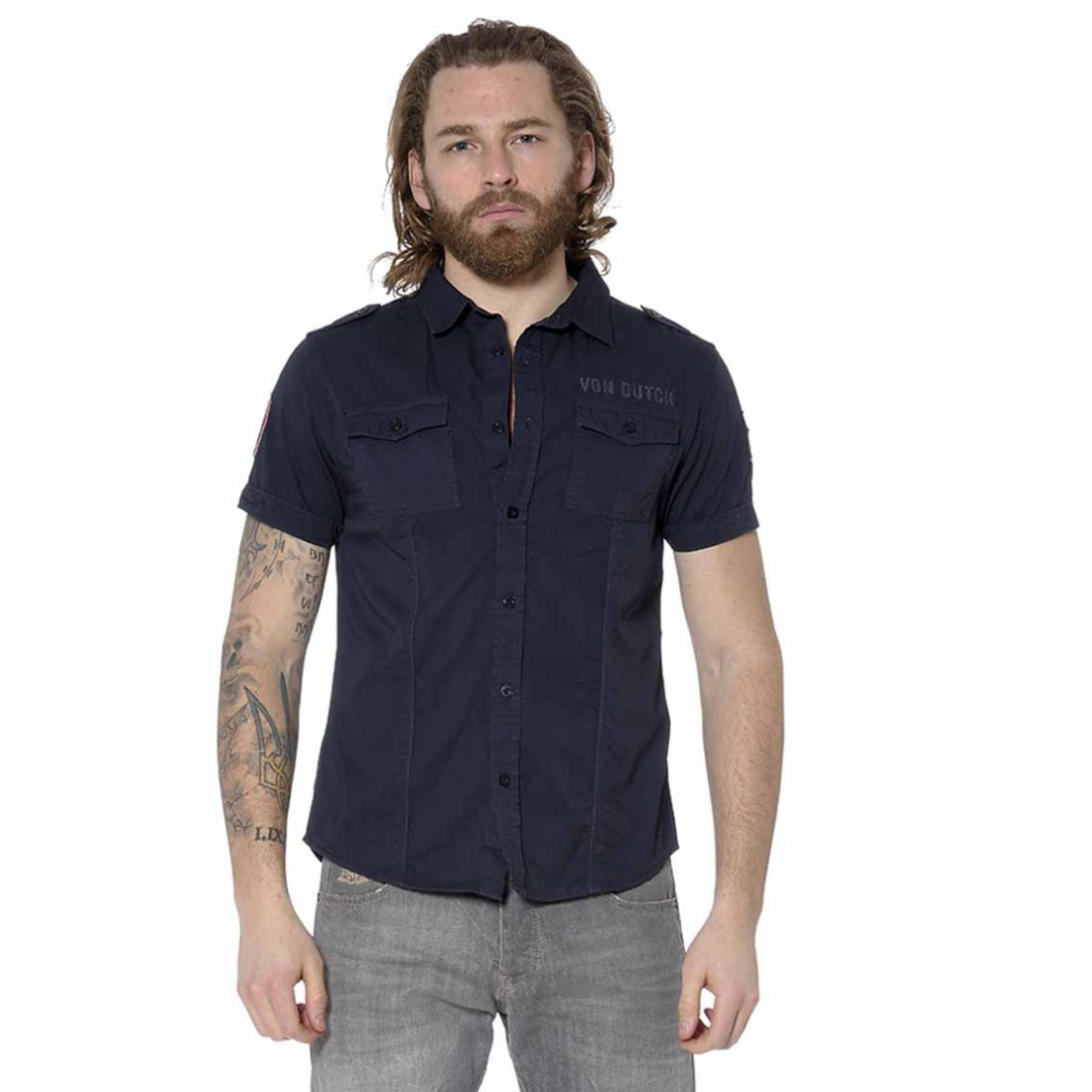 Chemise Homme Toile Manches Courtes Star